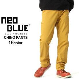 チノパン スリム メンズ 大きいサイズ USAモデル ブランド ネオブルー NEO BLUE チノパンツ スキニーパンツ 36インチ 38インチ 40インチ