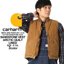 カーハート ベスト メンズ ウォッシュ加工 ダックベスト 大きいサイズ V02 USAモデル│ブランド Carhartt|中綿 キル…
