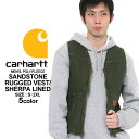 カーハート ベスト ボア ジップアップ メンズ 大きいサイズ V26 USAモデル│ブランド Carhartt|防寒 アメカジ おしゃれ 作業着 作業服