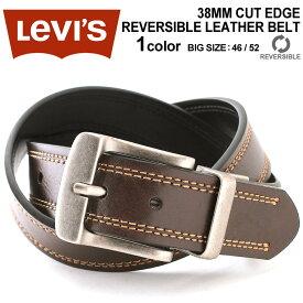 Levi's リーバイス ベルト メンズ 本革 ベルト リバーシブル [Levi's Levis ベルト リーバイス リバーシブル ベルト レザー 本革 ベルト 大きいサイズ カジュアルベルト メンズ 黒 茶 ブラック ブラウン 回転式バックル] (USAモデル)