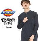 ディッキーズ Tシャツ 長袖 ヘンリーネック 無地 メンズ 大きいサイズ USAモデル Dickies …