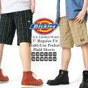 ディッキーズ ハーフパンツ Dickies wr978 ハーフパンツ メンズ ひざ下 チェック柄 チェックショーツ 大きいサイズ メンズ ハーフパンツ 夏 (USAモデル)