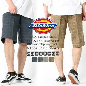 Dickies ディッキーズ ハーフパンツ メンズ チェック [Dickies ディッキーズ ハーフパンツ 大きいサイズ メンズ ディッキーズ ショートパンツ チェック チェックショーツ アメカジ メンズ] (USAモデル)
