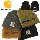 カーハート 帽子 ニット帽 メンズ レディース 104068 USAモデル ブランド Carhartt ニットキャップ ビーニー アメカジ おしゃれ