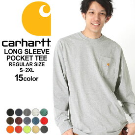 [10%OFFクーポン配布] カーハート ロンT ポケット メンズ Tシャツ 長袖 6.75oz 大きいサイズ k126 USAモデル│ブランド Carhartt|長袖Tシャツ アメカジ おしゃれ