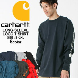カーハート ロンT 袖ロゴ メンズ Tシャツ 長袖 6.75oz 大きいサイズ k231 USAモデル│ブランド Carhartt|長袖Tシャツ アメカジ おしゃれ