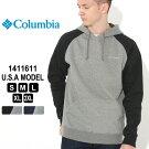 コロンビアパーカープルオーバーラグランスリーブ1411611|ブランドColumbia|フリースフーディー防寒