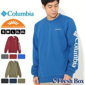 【送料無料】 Columbia コロンビア トレーナー メンズ ブランド 裏起毛 スウェット 大きいサイズ UPF50 UVカット 紫外線防止 [Men's Columbia Logo Fleece Crew] (USAモデル)