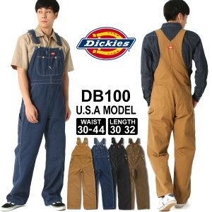 ディッキーズ オーバーオール ウォッシュデニム ダック DB100 メンズ|股下 30インチ 32インチ|ウエスト 30〜44インチ|大きいサイズ USAモデル Dickies|作業着 作業服