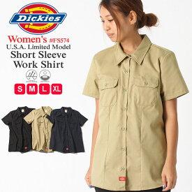 ディッキーズ レディース シャツ 半袖 FS574 ワークシャツ 大きいサイズ USAモデル Dickies Women's 半袖シャツ カジュアルシャツ