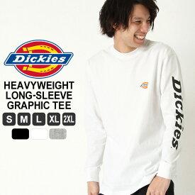 ディッキーズ Tシャツ 長袖 メンズ 大きいサイズ USAモデル Dickies ロンT 長袖Tシャツ ロゴT 【W】
