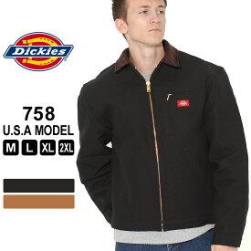 ディッキーズ ジャケット ダック ブランケットライニング 758 メンズ|大きいサイズ USAモデル Dickies|ワークジャケット ダックジャケット 防寒 アウター ブルゾン【COP】