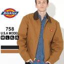 ディッキーズ ジャケット ダック ブランケットライニング 758 メンズ|大きいサイズ USAモデル Dickies|ワークジャケット ダックジャケット 防寒 アウター ブルゾン XL XXL LL 2L 3L