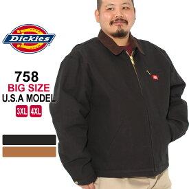 [ビッグサイズ] ディッキーズ ジャケット ダック ブランケットライニング 758 メンズ|大きいサイズ USAモデル Dickies|ワークジャケット ダックジャケット 防寒 アウター ブルゾン 3L 4L 5L【COP】