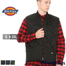 【送料無料】 ディッキーズ キルティング ナイロンベスト TE242 メンズ|大きいサイズ USAモデル Dickies 【COP】