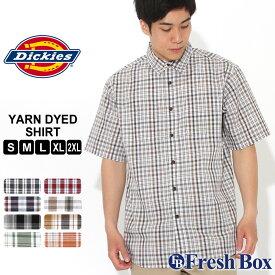 ディッキーズ シャツ 半袖 レギュラーカラー ポケット チェック柄 メンズ 大きいサイズ WS525 USAモデル|ブランド Dickies|チェックシャツ アメカジ