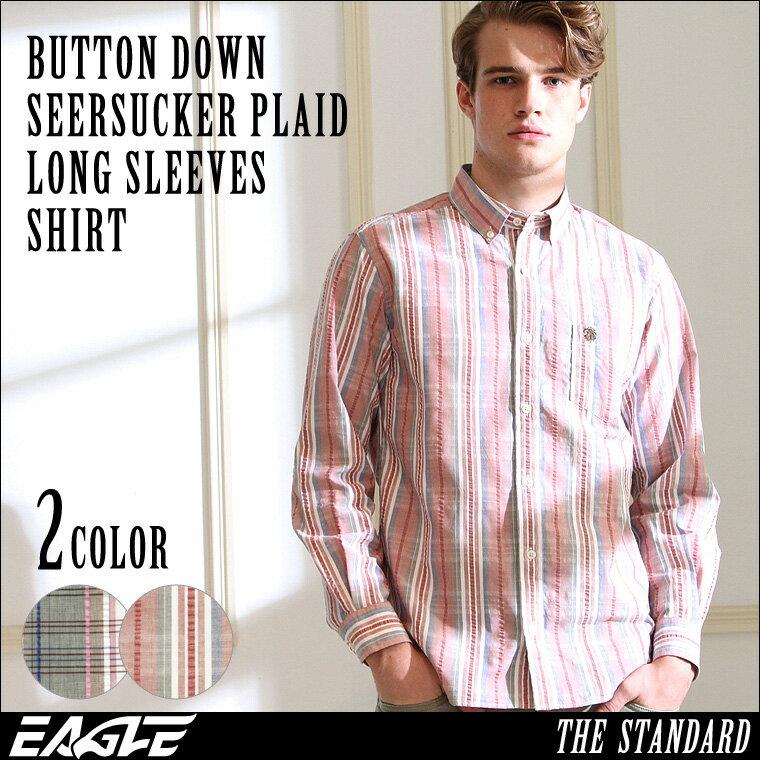 【送料無料】 チェックシャツ メンズ 長袖 ボタンダウン 大きいサイズ メンズ EAGLE THE STANDARD [チェックシャツ メンズ ボタンダウンシャツ 長袖 チェック柄 チェック シャツ 大きいサイズ ボタンダウンシャツ カジュアルシャツ メンズ 長袖 XL XXL 2L LL] (日本規格)