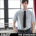 シャツ メンズ 半袖 カジュアル ストライプ ワイシャツ ワイド 《EAGLE THE STANDARD》 [日本規格] (ブロードシャツ ストライプ カジュアルシャツ 半袖 シャツ メンズ 半袖 大