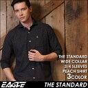 【送料無料】 7分袖 シャツ メンズ カジュアル 七分袖 シャツ ドット柄 ワイシャツ ワイド EAGLE THE STANDARD (カジュアルシャツ 七分袖 シャツ メンズ 大きいサイズ ピーチシ