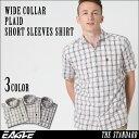 【送料無料】 EAGLE THE STANDARD │ シャツ メンズ 半袖 半袖シャツ メンズ [ワイドカラー 半袖 チェック柄 チェックシャツ メンズ 半袖シャツ メンズ 大きいサイズ メンズ シ