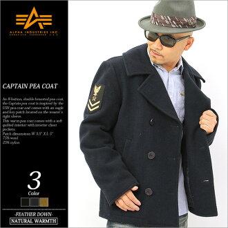 ALPHA 阿尔法豌豆大衣的男人 ! () mjc43913 阿尔法工业阿尔法行业 alpha 豌豆大衣男式大衣 p 大衣短海军大