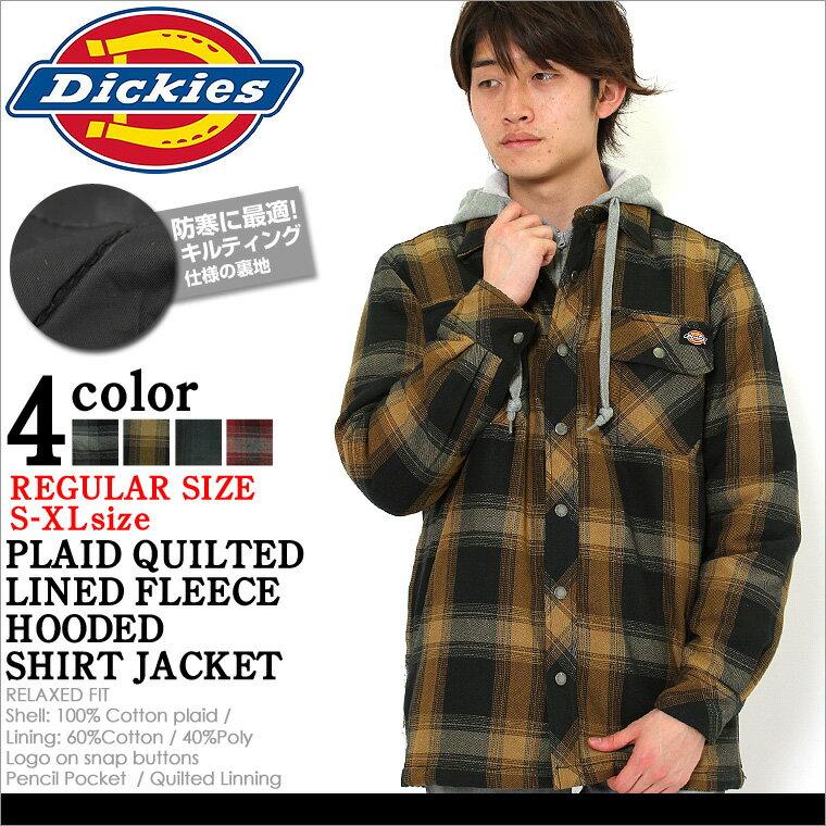 【送料299円】 ディッキーズ Dickies ディッキーズ ジャケット メンズ 大きいサイズ メンズ アウター ブルゾン [Dickies ディッキーズ フランネル ジャケット チェック 厚手 キルティング アウター メンズ 冬 ブルゾン メンズ フード 防寒 XL XXL 2XL LL 2L] (USAモデル)