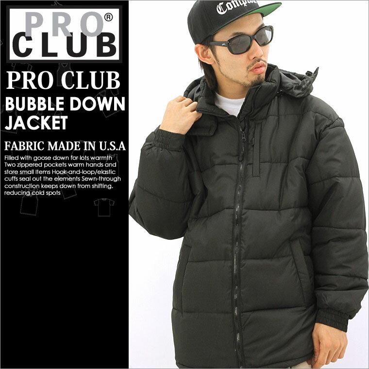 【送料299円】 PRO CLUB プロクラブ 中綿 ジャケット メンズ 秋冬 アウター ブルゾン 大きいサイズ 黒 ブラック XL XXL LL 2L 3L 【平行輸入品】 【USAモデル】