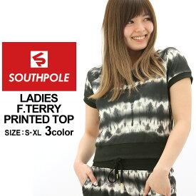 半額!楽天スーパーセール | サウスポール Tシャツ 半袖 スウェット レディース 15123-1545 大きいサイズ USAモデル ブランド SOUTH POLE 半袖Tシャツ プリント (1204sale) (CLE)