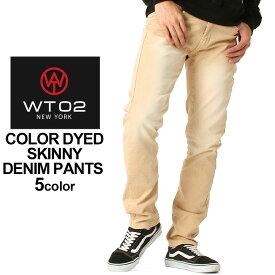 WT02 ジーンズ スキニー メンズ 17391-3105|大きいサイズ USAモデル ブランド ダブルティー02|スキニーパンツ ジーパン パンツ デニム ストリート (clearance)