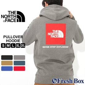 【送料無料】 ノースフェイス パーカー ボックスロゴ TNF プルオーバー 裏起毛 薄手 メンズ NF0A3FRE USAモデル|ブランド THE NORTH FACE|フード スウェット スエット