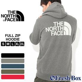 【送料無料】 ノースフェイス パーカー TNF ロゴ ジップアップ 裏起毛 薄手 メンズ NF0A3XA9 USAモデル ブランド THE NORTH FACE フード スウェット スエット