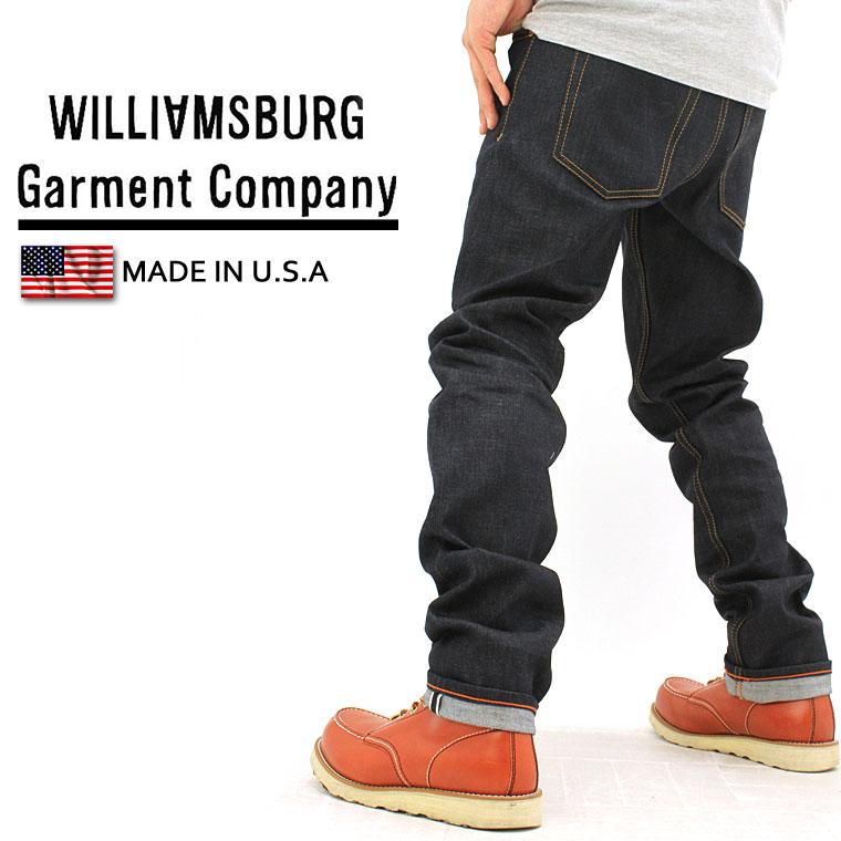 【送料無料】 WILLIAMSBURG ウィリアムズバーグ ジーンズ メンズ デニム セルビッチ 大きいサイズ 【made in usa】 [ウィリアムズバーグ セルビッチ ジーンズ デニム メンズ ノンウォッシュ リジッド Williamsburg Garment Company] (USAモデル)