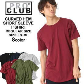 [10%OFFクーポン配布] PRO CLUB プロクラブ tシャツ メンズ 無地 ロング丈 tシャツ ビッグtシャツ ビッグシルエットtシャツ 無地tシャツ 半袖tシャツ メンズ 黒 ブラック 白 ホワイト 大きいサイズ メンズ tシャツ S/M/L/LL【COP】