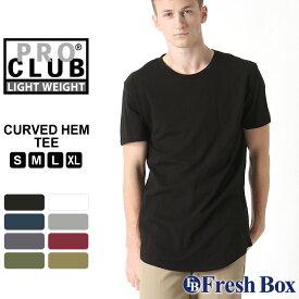 プロクラブ Tシャツ 半袖 薄手 ロング丈 無地 メンズ 大きいサイズ USAモデル ブランド PRO CLUB 半袖Tシャツ ビッグTシャツ ビッグシルエット S M L LL