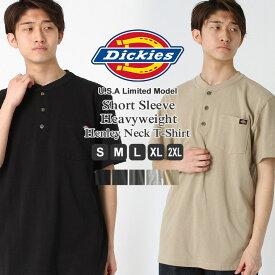 ディッキーズ Dickies ディッキーズ tシャツ メンズ 半袖 無地 ヘンリーネック [Dickies ディッキーズ tシャツ 半袖 メンズ 半袖tシャツ 無地 ポケット tシャツ アメカジ tシャツ tシャツ XL XXL LL 2L 3L] (USAモデル)【COP】