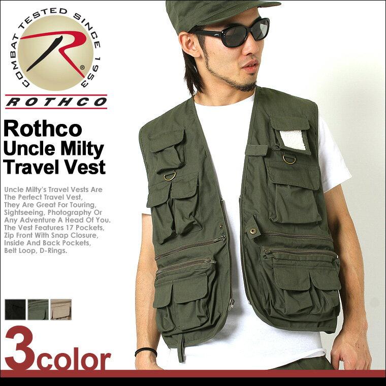 ROTHCO ロスコ ベスト メンズ ミリタリー 大きいサイズ [ロスコ ROTHCO ベスト メンズ ミリタリー アウトドア フィッシングベスト ポケット ベスト ジレ ブラック オリーブ 大きいサイズ メンズ XL XXL LL 2L 3L]