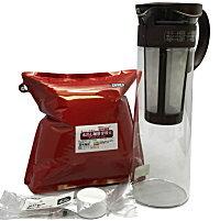 アイスコーヒー ハリオ水出しポット付き 水出しコーヒー 珈琲 コーヒー豆 ポイント10倍 水出し専用豆500g付き【送料無料】