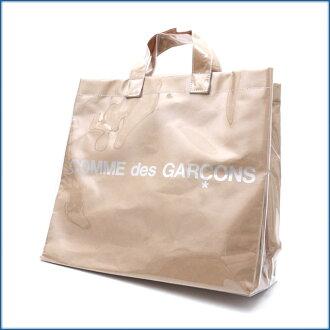 COMME des GARCONS (Comme des Garçons) 477-002098-010 BEIGExCLEAR SHOPPER TOTE BAG (tote bag)