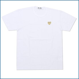 PLAY COMME des GARCONS プレイコムデギャルソン GOLD HEART ONE POINT TEE Tシャツ WHITExGOLD 400006748050
