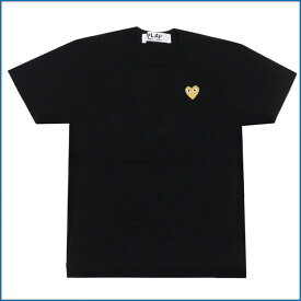 PLAY COMME des GARCONS プレイコムデギャルソン GOLD HEART ONE POINT TEE Tシャツ BLACKxGOLD 400006748041