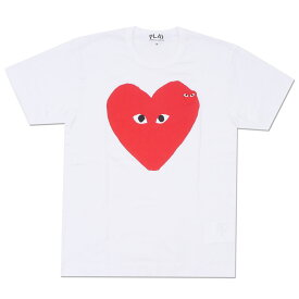 PLAY COMME des GARCONS プレイ コムデギャルソン Oblong RED HEART TEE Tシャツ WHITE 200007095040 【新品】