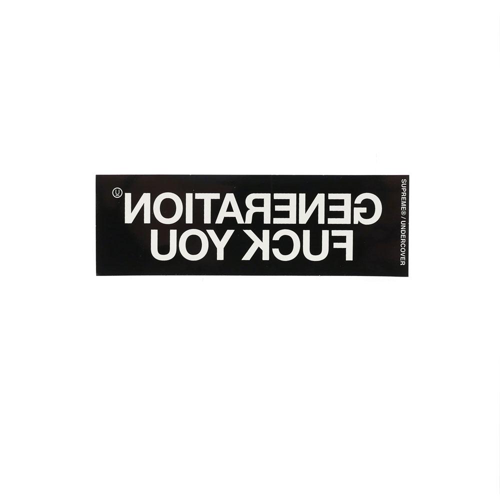 SUPREME(シュプリーム) x UNDERCOVER(アンダーカバー) Generation Fuck You Sticker (ステッカー) 290-004079-110+【新品】