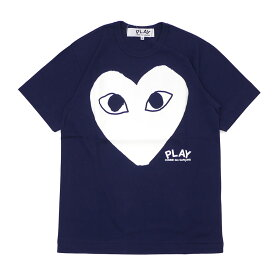 PLAY COMME des GARCONS プレイ コムデギャルソン WHITE HEART PRINT TEE Tシャツ NAVY 200007736047 【新品】
