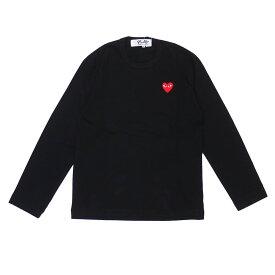 PLAY COMME des GARCONS プレイ コムデギャルソン MEN'S RED HEART LS TEE 長袖Tシャツ BLACK 200007741041 【新品】