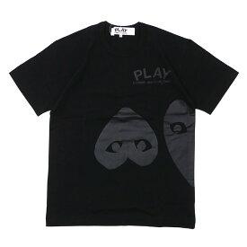 PLAY COMME des GARCONS プレイ コムデギャルソン MEN'S THREE HEART TEE Tシャツ BLACK 200007760051 【新品】