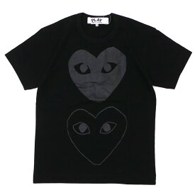 PLAY COMME des GARCONS プレイ コムデギャルソン MEN'S TWO HEART TEE Tシャツ BLACK 200007759041 【新品】