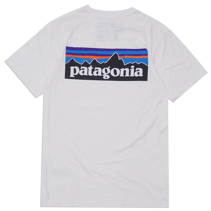 Patagonia パタゴニア M's P-6 Logo Organic T-Shirt ロゴ オーガニック Tシャツ WHITE ホワイト SlimFit 39151【新品】200008082020