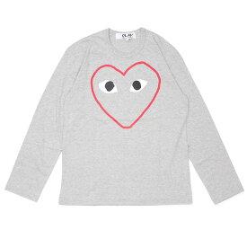 新品 プレイ コムデギャルソン PLAY COMME des GARCONS MENS HEART OUTLINE L/S TEE 長袖Tシャツ GRAY グレー 灰色 メンズ 新作