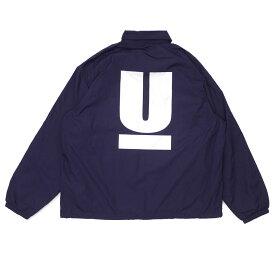 新品 アンダーカバー UNDERCOVER MUU9201-07 WIDE COACH JACKET U コーチ ジャケット Uロゴ NAVY ネイビー 紺 メンズ