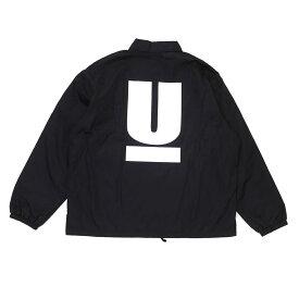 新品 アンダーカバー UNDERCOVER MUU9201-07 WIDE COACH JACKET U コーチ ジャケット Uロゴ BLACK ブラック 黒 メンズ
